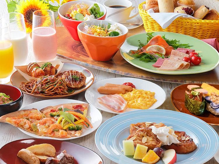 朝食ブッフェ(盛り付けイメージ)
