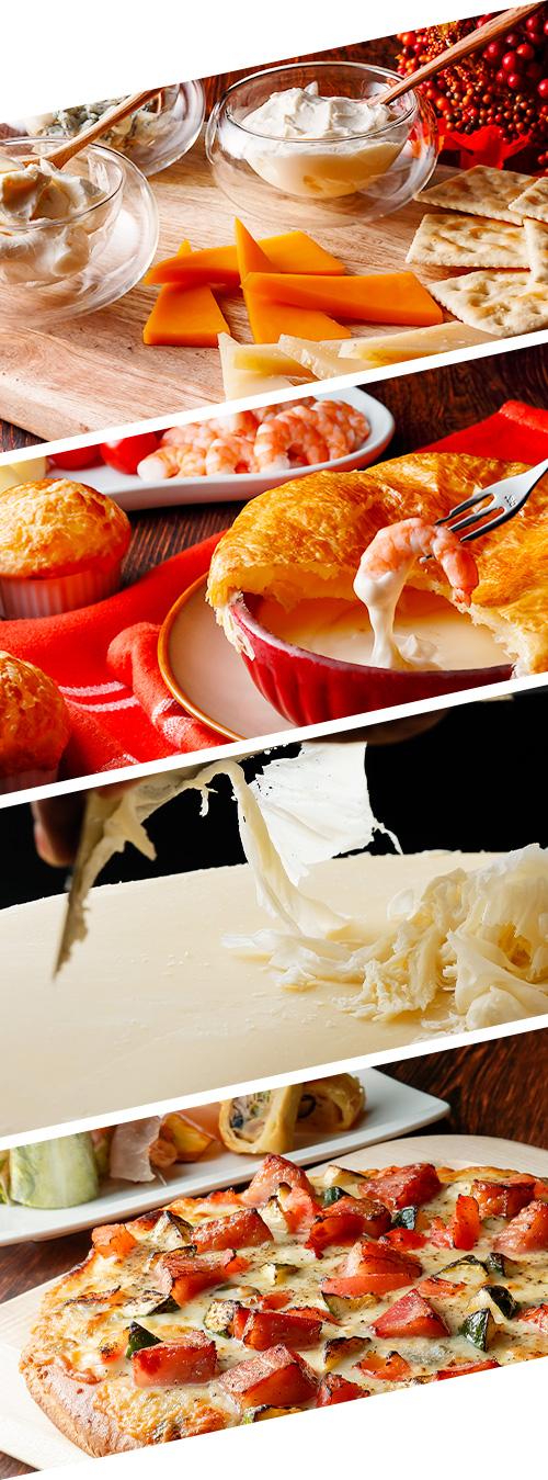 秋の味覚とチーズフェアの料理イメージ