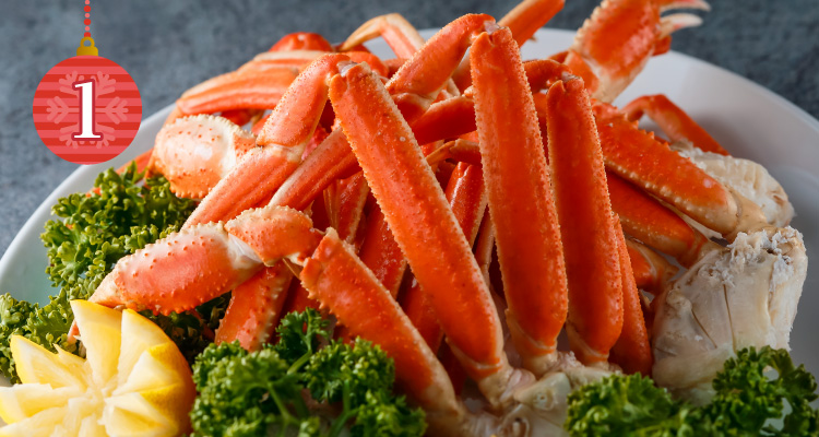 クリスマス ビーフフェア 期間限定メニュー ボイルずわい蟹