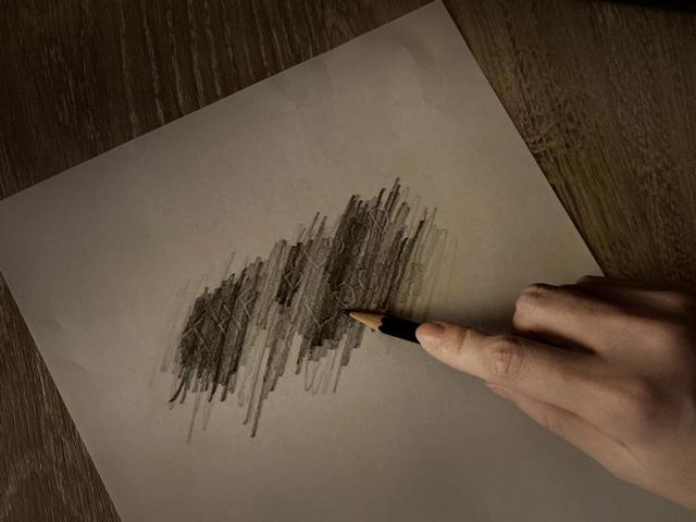 絵画技法のフロッタージュを用いて謎を解く(イメージ)